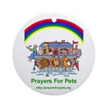 Prayers For Pets Round Ornament