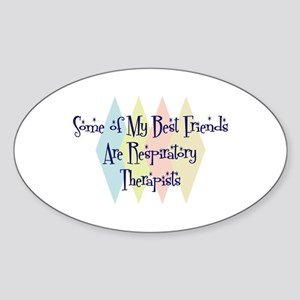Respiratory Therapists Friends Oval Sticker