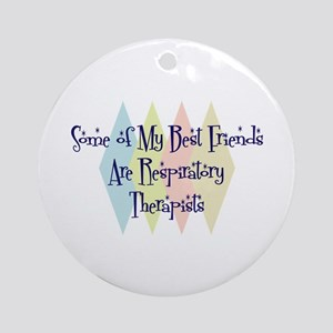 Respiratory Therapists Friends Ornament (Round)