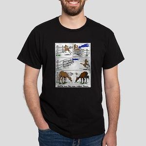 Rubber Horse Fence Cartoon Dark T-Shirt