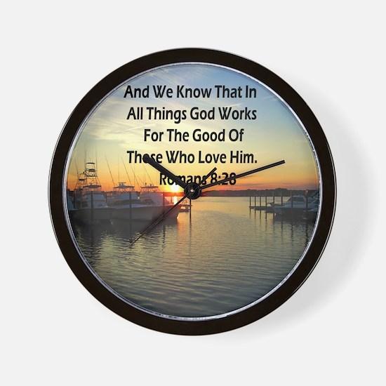ROMANS 8:28 Wall Clock