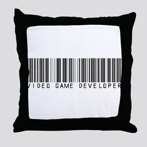 Video Game Dvlpr Barcode Throw Pillow