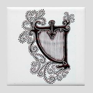 HARP VINES Tile Coaster