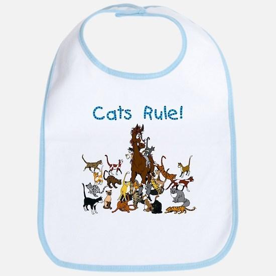 Barn Cats Rule Bib