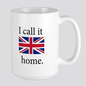 I Call It Home (UK Flag) Large Mug