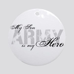 Son is my Hero ARMY Ornament (Round)