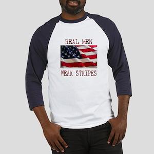Real Men Wear Stripes Baseball Jersey