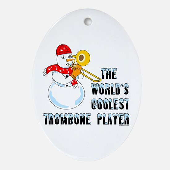 Coolest Trombone Oval Ornament