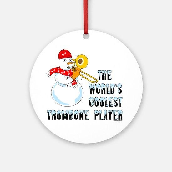 Coolest Trombone Ornament (Round)