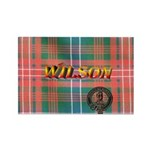 Wilson Tartan & Badge Rectangle Magnet