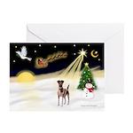 Night Flight/Fox Terrier Greeting Cards (Pk of 20)