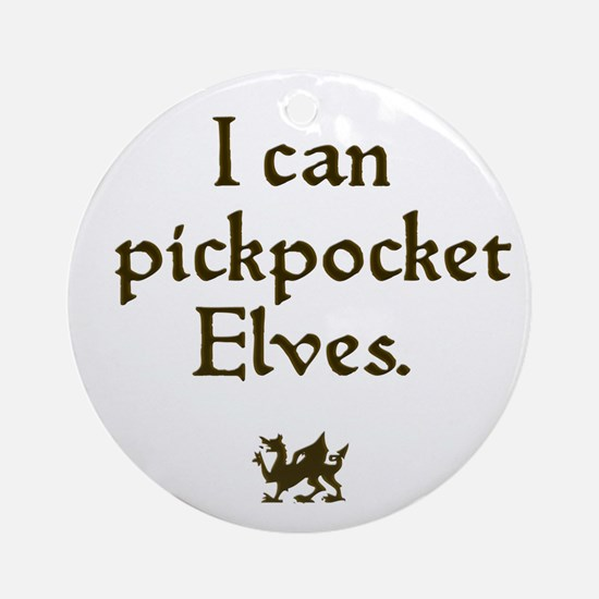 pickpocket elves Ornament (Round)