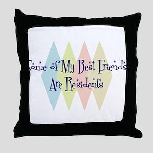 Residents Friends Throw Pillow