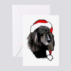 Christmas poodle Greeting Cards (Pk of 10)