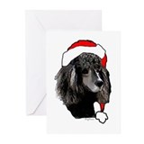 Poodle christmas Greeting Cards (10 Pack)