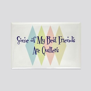 Quilters Friends Rectangle Magnet