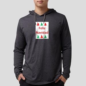 feliz navidad Mens Hooded Shirt