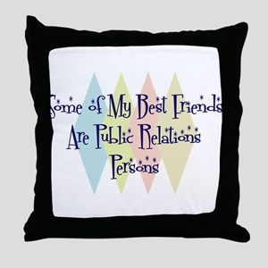 Public Relations Persons Friends Throw Pillow