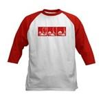 Red Fencing Thrust Kids Baseball Jersey
