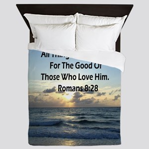 ROMANS 8:28 Queen Duvet