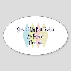 Polymer Chemists Friends Oval Sticker