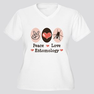 Peace Love Entomology Women's Plus Size V-Neck T-S
