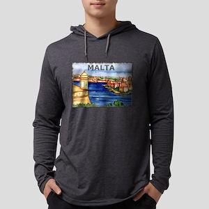 Vintage Malta Art Long Sleeve T-Shirt