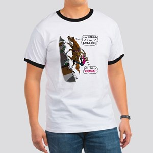 (I am)Woman on Trail Horse Ringer T