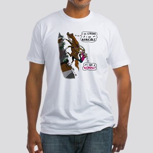 (I am)Woman on Trail Horse Fitted T-Shirt