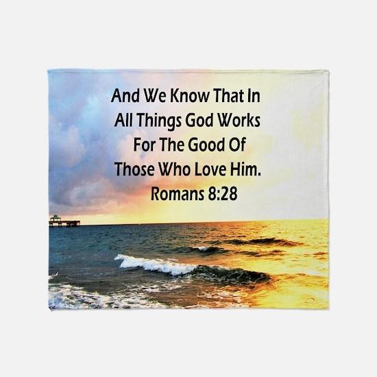 ROMANS 8:28 Throw Blanket
