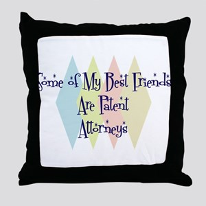 Patent Attorneys Friends Throw Pillow
