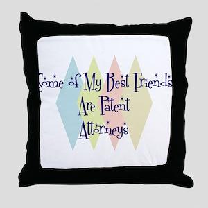 Patent Attorneys Friends Throw Pillow