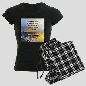 ROMANS 8:28 Women's Dark Pajamas
