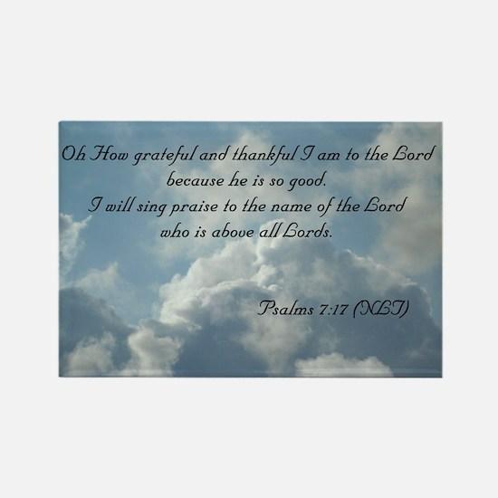 Psalms 7 Rectangle Magnet