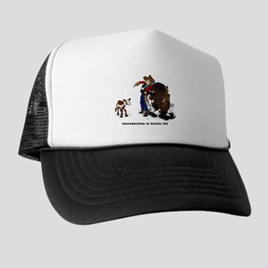 Cutting Horse Meeting Cow Trucker Hat