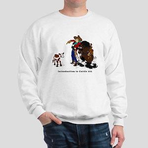 Cutting Horse Meeting Cow Sweatshirt