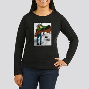 Girl and Horse - western Women's Long Sleeve Dark