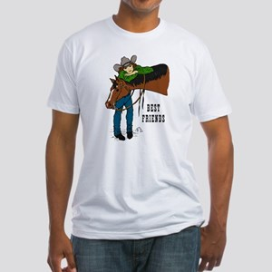 Girl and Horse - western Fitted T-Shirt
