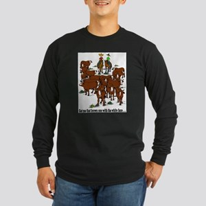Cutting Horses and Cows Long Sleeve Dark T-Shirt