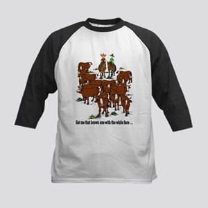 Cutting Horses and Cows Kids Baseball Jersey