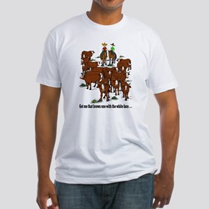 Cutting Horses and Cows Fitted T-Shirt