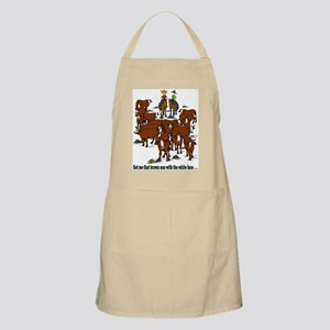 Cutting Horses and Cows BBQ Apron