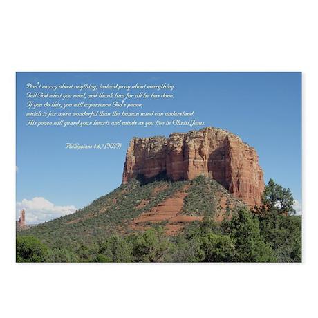 Phillipians 4:6,7 Postcards (Package of 8)