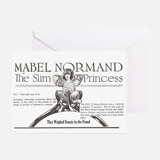 Mabel Normand Slim Princess 1920 Greeting Card