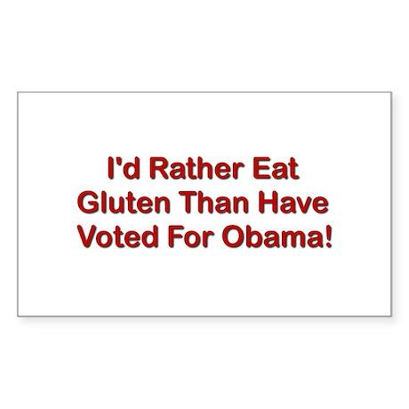 I'd Rather Eat Gluten Rectangle Sticker 10 pk)