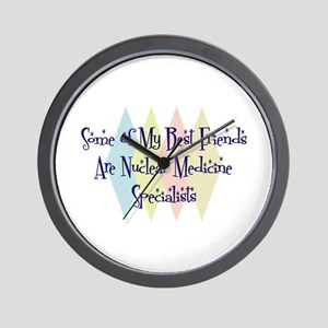 Nuclear Medicine Specialists Friends Wall Clock