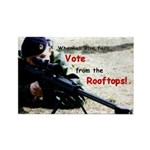 Vote from the Rooftops on Rectangle Magnet (100 pa
