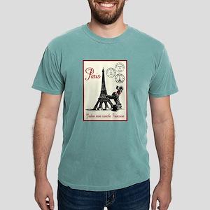 Paris Poodle Mens Comfort Colors Shirt
