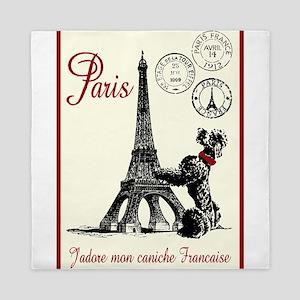 Paris Poodle Queen Duvet