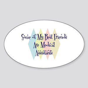 Medical Assistants Friends Oval Sticker